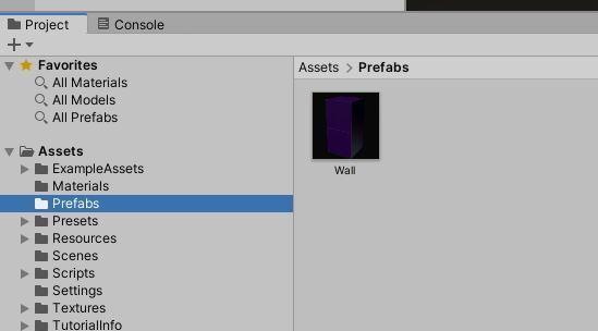 prefab folder display