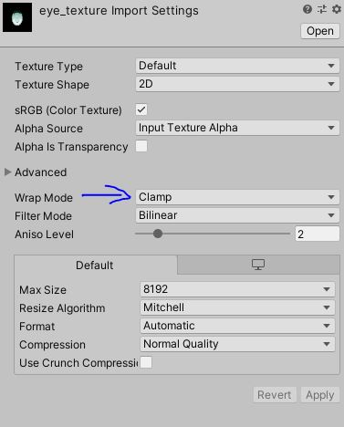 Setting Texture Wrap Mode to Clamp