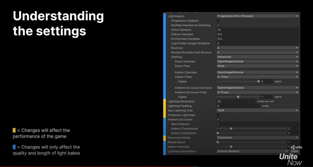 lightmap settings